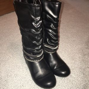 Other - Leather boots girls size 2
